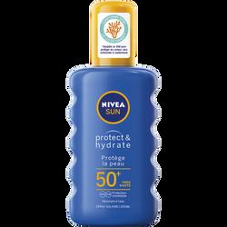 Créme solaire protect & Hydrate SPF50+ protége les vêtements NIVEA, tube de 200ml