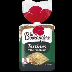 Tartines aux céréales LA BOULANGERE, 450g