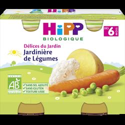 Petit pot bio pour bébé jardinière de légumes HIPP, dès 6 mois, 2 x 190g