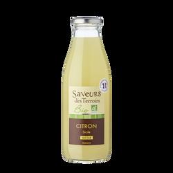 Nectar de citron de Sicile bio SAVEURS DES TERROIRS, bouteille de 75cl