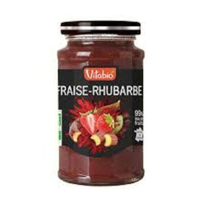 Confiture Bio Fraise Rhubarbe Vitabio 290g