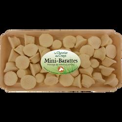 Fromage de chèvre au lait cru mini barattes CHEVENET, 25%MG, barquettede 150g
