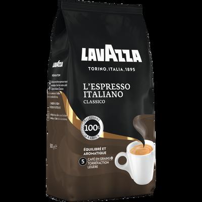 Café grain espresso italiano LAVAZZA, paquet de 500g