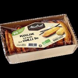 Madeleines pur beurre vanille Bio MISTRAL, x6 soit 225g