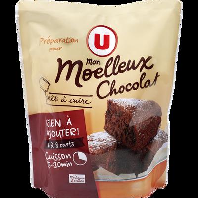 Préparation pour moelleux chocolat prêt à cuire U, doy pack de 500g