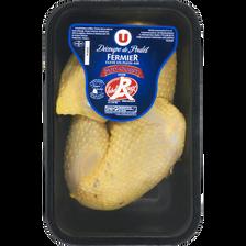 Cuisse de poulet fermier du Sud Ouest, U, France, 2 pièces 500 g