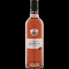 Vin rosé Côtes De Duras AOP SEIGNEUR DE BERTICOT, bouteille de 75cl