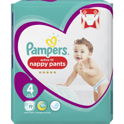 Couches premium protection active fit pants taille 4 9-14kg  PAMPERS,x19