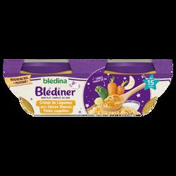 Crème de légumes aux épices BLEDINA, dès 15 mois, 2x200g