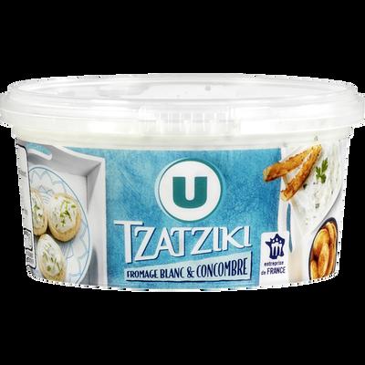 Tzatziki fromage blanc et comcombre U, pot de 200g