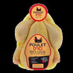 Poulet jaune prêt à cuire, POULET D'ICI, France, 1 pièce
