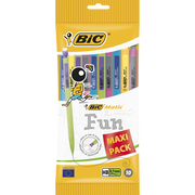 Bic 10 Portes-mine Matic Combos Bic, Mine 0,7mm Hb, Corps Et Agrafes Colorés, Gomme, 3 Mines 0,7mm Hb