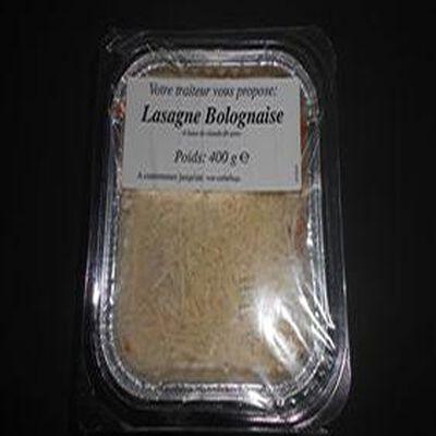 Lasagne bolognaise à base de viande de porc 400G SAF