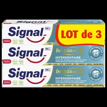 Signal Dentifrice Integral 8 Interdentaire  3x75ml