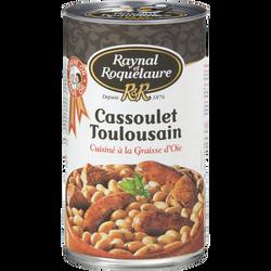 Cassoulet Toulousain cuisiné graisse d'oie Raynal & Roquelaure, boîte3/2, 1260g