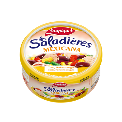 Saladière snacking Mexicana SAUPIQUET, 1/3, 220g