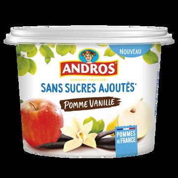 Andros Déssert Fruitier Pomme Vanille Sans Sucre Ajouté Andros Pot 600g