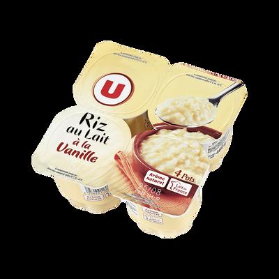 Riz au lait à la vanille U, 4 pots x115g