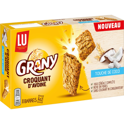 Biscuit croquant d'avoine coco GRANY Lu, étui x6, 168g