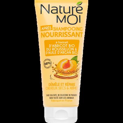 Après-shampooing nourrissant cheveux secs NATURE MOI, flacon de 200ml