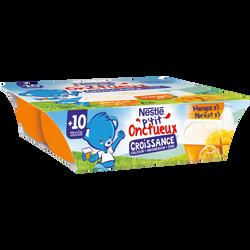 P'tit onctueux croissance abricot/mangue dès 10 mois NESTLE, 6x60g