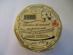 TERRINE DE CANARD AU POIVRE VERT GAILLARD BOCAL 180G
