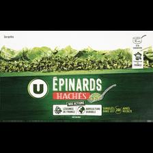 Epinards hâchés U, 450g