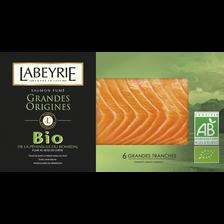 Labeyrie Saumon Fumé Au Bois Norvège  Bio 6 Tranches 210g
