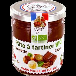 Pâte à tartiner noisette et cacao bio LUCIEN GEORGELIN, 400g