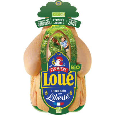 Poulet fermier de LOUE, BIO, France, 1 pièce