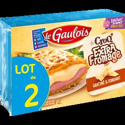 Croqs extra fromage, LE GAULOIS, France, 2 pièces, lot de 2 étuis, 400g