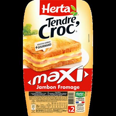 Tendre croc'maxi jambon fromage HERTA, 2 unités, 300g