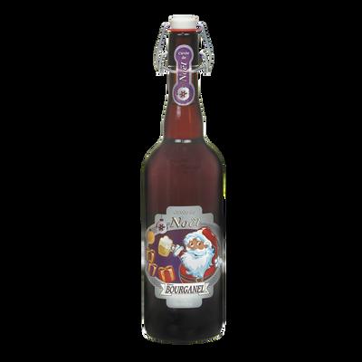 Bière brune de noël BOURGANEL 6.5°, bouteille de 75cl