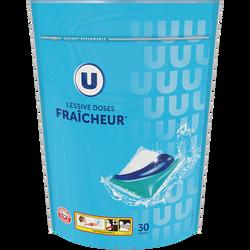 Lessive tri-doses parfum fraîcheur u x30 lavages (630g)