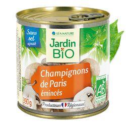 Champignons de Paris emincés sans sel ajouté JARDIN BIO 390g