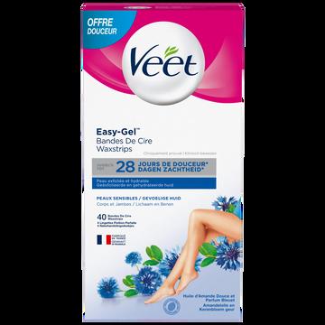 Veet Bandes De Cire Peaux Sensibles Veet, X40 Offre Douceur