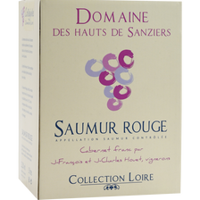Saumur vin rouge AOP Domaine des Hauts de Sanziers, cubis de 3l