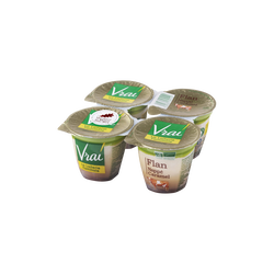 Flan bio nappé caramel VRAI, 4x125g