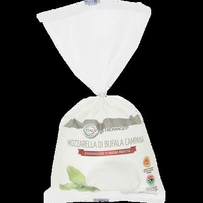 Mozzarella DOP di bufala lait thermisé 24%mg, ITALIE DES FROMAGES, 250g