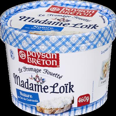 Fromage fouetté pasteurisé Madame Loïk sel Guérande PAYSAN BRETON, 24%MG, 460g