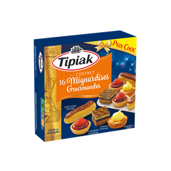 Coffret mignardises gourmandes TIPIAK, x16 soit 200g