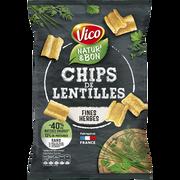 Vico Natur'& Bon Chips De Lentilles Et Fines Herbes Vico, 85g