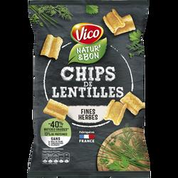 Natur'& bon chips de lentilles et fines herbes VICO, 85g