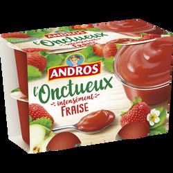 Spécialité aux fruits aux fraises onctueux ANDROS, 4x97g