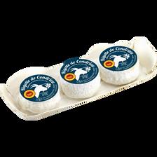 Rigotte de condrieux, AOP, au lait cru de chèvre, 25%Mat.Gr., 3x35g