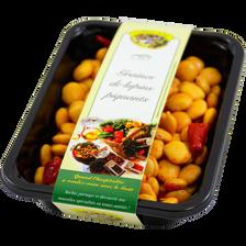Graines de lupins sauce piquante, barquette de 250g