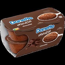 Mousse chocolat DANETTE, 4x60g