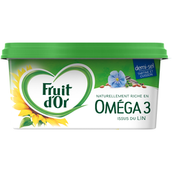 Margarine allégée demi-sel, FRUIT D'OR, 60% de matière grasse, 510g