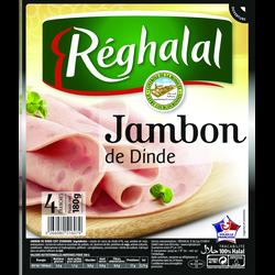 Jambon de dinde REGHALAL, 4 tranches, barquette de 180g