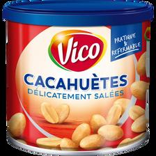 Cacahuètes grillées à l'huile et salées VICO, boîte de 200g